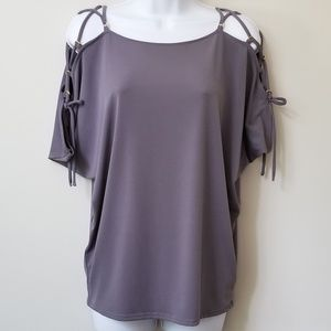 NWT Express Tie Sleeve Bat Wing Top